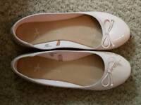 Pink ballerina pumps. Size 7