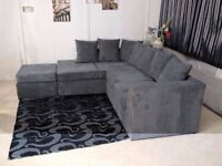 ✔️✔️Fabric Sofa Offers--SAME/NEXT DAY DELIVERY ✔️✔️ ** Jumbo Cord Corner Sofa Suite ✔️✔️