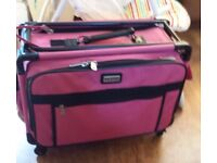TUTTO craft on wheels tote PINK. Folds down for storage.