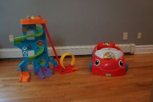 Fisher Price Little People Weelies, Laugh and Learn Car Combo
