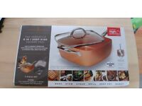 Copper Chef 6-in-1 Non-Stick Pan (5 Piece Set) (As Seen on High Street TV) Brand new
