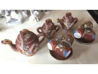Very rare Japanese poss-circa 1920 dragon design tea set