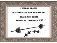 Opti Cast Bar Dumbbell Set - 50 Kg BRAND NEW BOXED RRP £94.99