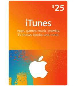 iTunes $25 gift card for only $15