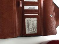Wallet lady's genuine leather dark green