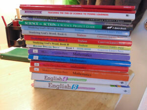 Homeschooling books. List of titles available upon request