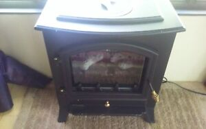 Small electric fireplace.