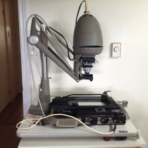 Enlarger, table and trays