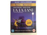 LA LA LAND 2017 UK BLU RAY+ DIGITAL DOWNLOAD+ARTCARDS/SLIPOVER BRAND NEW & SEALED