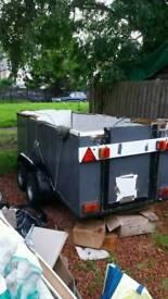 Double wheel heavy duty trailer