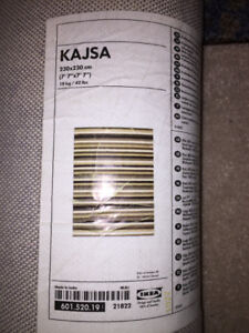 "Ikea Kajsa rug (7'7""x7'7"") - Pinstripes"