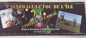 Forfait Paintball le Fou de l'île à Repentigny