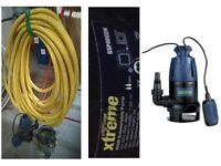 Submersible Automatic Water Pump 7,500 ltr/hr & 5m delivery height capacity plus FREE HOSE INCLUDED