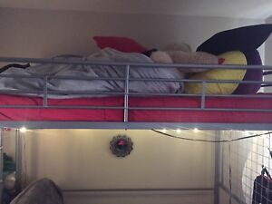 Loft bed, mattress and futon for sale !!