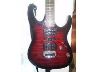 Ibanez GRX70QA Guitar & Blackstar ID CORE10 AMP