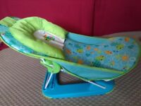 Folding baby bath support