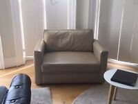 Leather sofa bed small