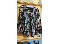 Vintage sparkly lurex style cover up ladies top