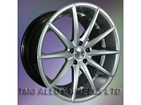 NEW 19'' AVA NEW YORK 9.5 ALL ROUND ALLOY WHEELS VW AUDI SEAT etc