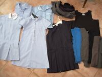 Bundle of Girls school uniform age 6-8 Blue/Navy/Grey 12+ items