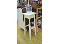 Shabby chic side table plant/lamp stand