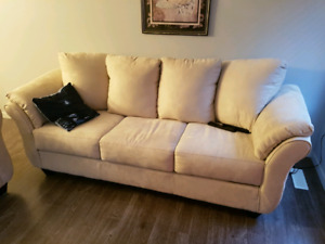 Like new Microfiber suede couches