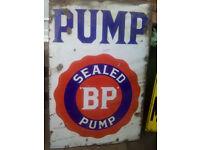 - Wanted old metal advertising sign shop vintage garage enamel*