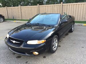 2000 Chrysler Sebring Convertible , 146Kms, Leather,  $3,500 OBO