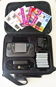 Sega Game Gear with 6 Classic Games and Case - Needs Capacitors