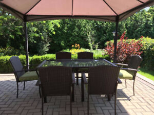 Gazebo and Patio Furniture (Used only one year)!