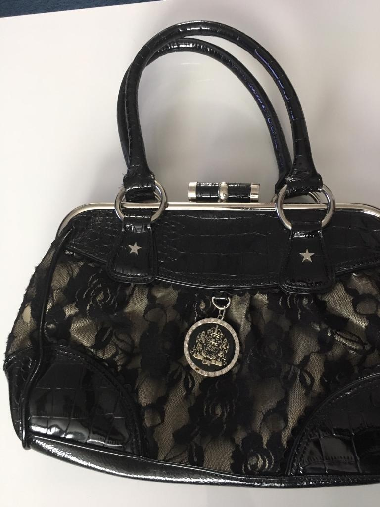 STAR by Julien macdonald bagin FalkirkGumtree - Black, with lace details and faux leather bag. Used but in good condition. The lining of the bag is still fully in tact. From a pet and smoke free home. For collection or can deliver if close to the area
