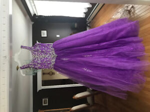 Tiffany Princess Purple Pageant Gown