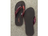ZARA flip flops