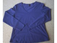 Women's Clothing Purple Long Sleeve T-Shirt from M&S Size 16 NEW