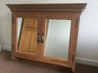 Large Pine Bathroom Cabinet