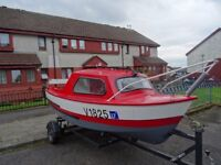 15 ft fishing boat engine and trailer