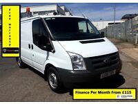 SALE SALE!! Ford Transit Van 2.2 300-1 Owner-EX BT,85K Miles ,FSH - 7 Stamps, 1YR MOT,Elec Windows