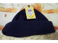John Lewis Childs Fleece Beanie Hat. Navy. Sizes S, or S–M