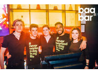Bar Tenders and Support Staff Wanted