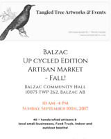 Balzac Up cycled Edition Artisan Market- Fall!