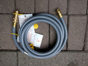 Brand new 3/8-in x 10-ft Male-Female Natural Gas Hose.