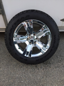 "20"" Chev / GMC Factory Chrome Rims & Tires"