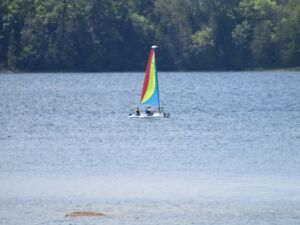 Excellent Hobie Bravo- the perfect learn to sail boat