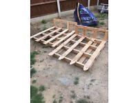 2 x wooden pallets