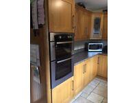 Solid Oak Kitchen Unit with appliances - Newry