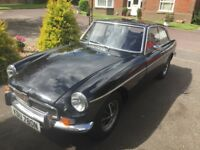 Beautiful MGB GT Classic British Sports Car