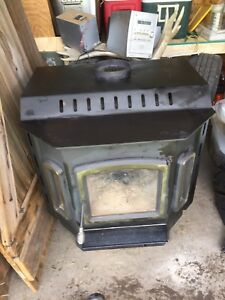Drolet wood stove/ double wall stove pipe