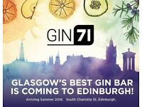 PR Staff for The Scottish Gin Festival at GIN71 on Charlotte Square