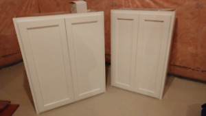 White Upper Cabinets