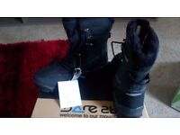 DARE 2 B MANTLE MENS SNOW BOOTS BLACK - SIZE 8 - BRAND NEW NEVER WORN